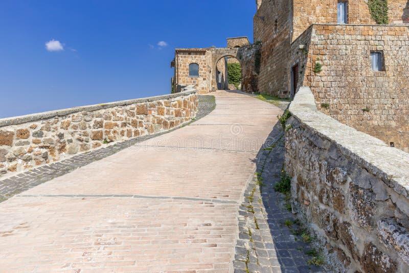 Die verlassene Stadt von Celleno stockbilder
