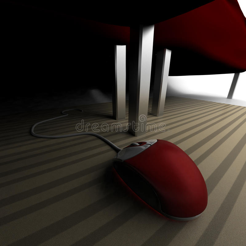Die verlorene Maus vektor abbildung