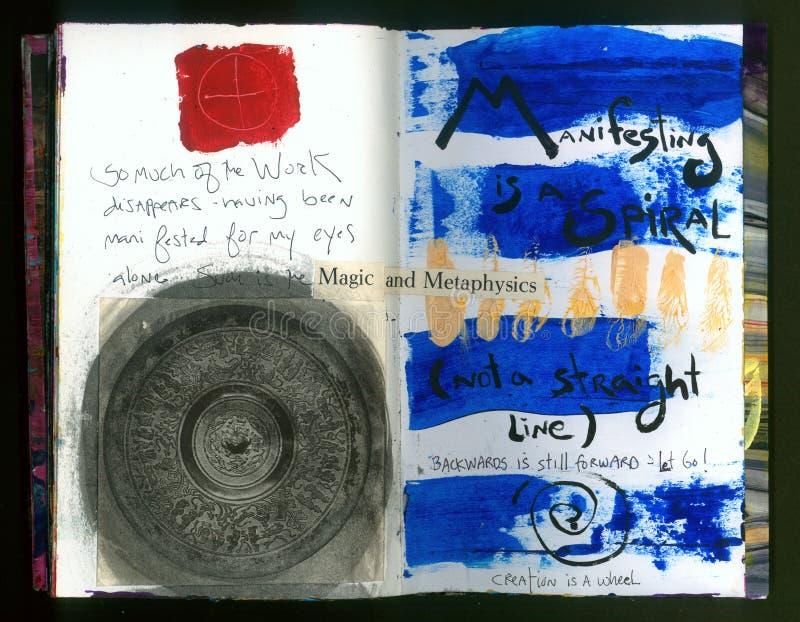 Die verrückte Klugheits-handgemachte Collage Art Journal des VERKÜNDUNGSkünstlers lizenzfreie abbildung