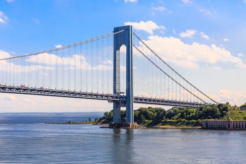 Die Verrazano Brücke und Staten Island stockfoto