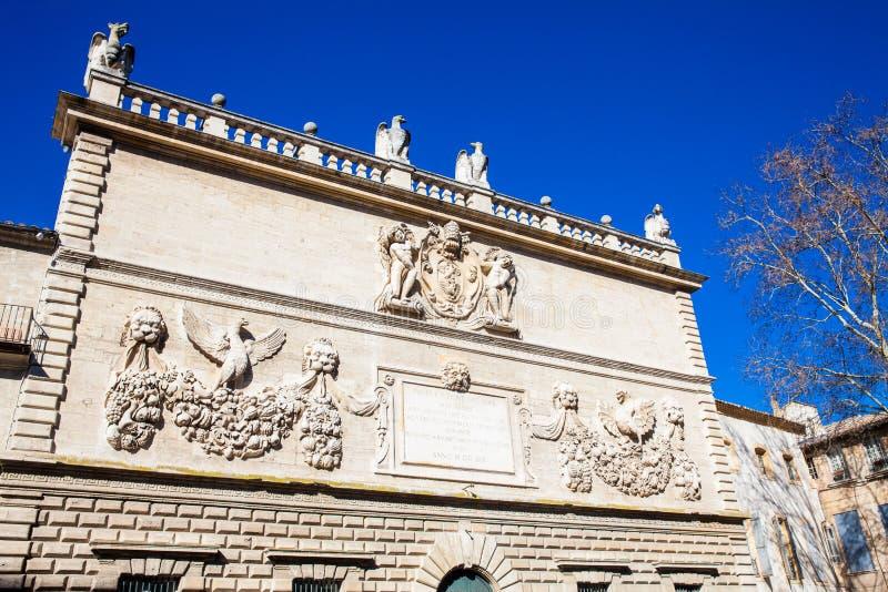 Die verstärkte Stadt von Avignon Frankreich lizenzfreie stockbilder