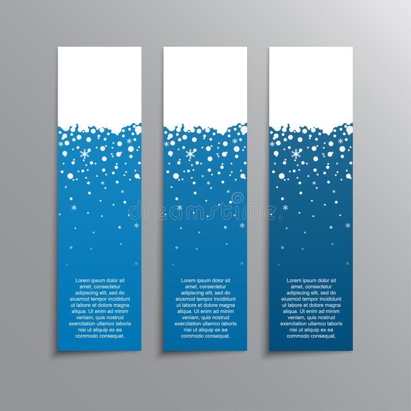 Die vertikale Winter-Blau-Fahne Aufkleber, Tag lizenzfreie abbildung
