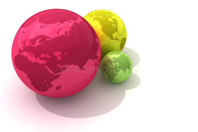 Die Vielfalt der Welt lizenzfreie abbildung
