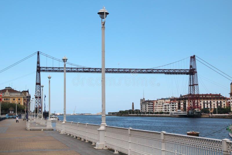 Die Vizcaya-Brücke, Bilbao, Spanien lizenzfreie stockfotos