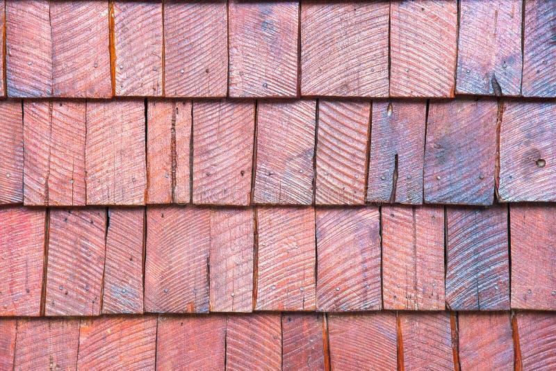 Die Wände werden vom Holz hergestellt stockfotografie