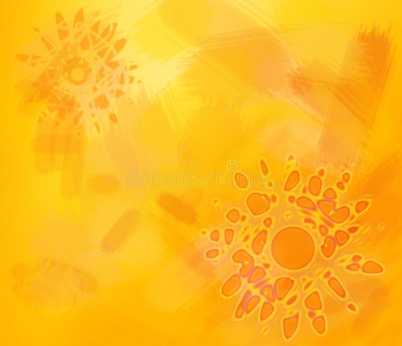 Die Wärme der Sonne lizenzfreie abbildung