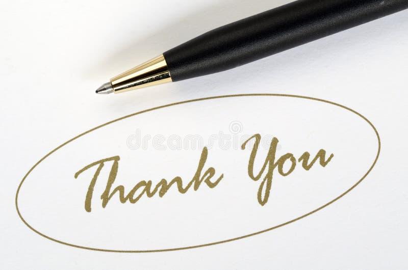 Die Wörter Danken Ihnen Stockfotografie