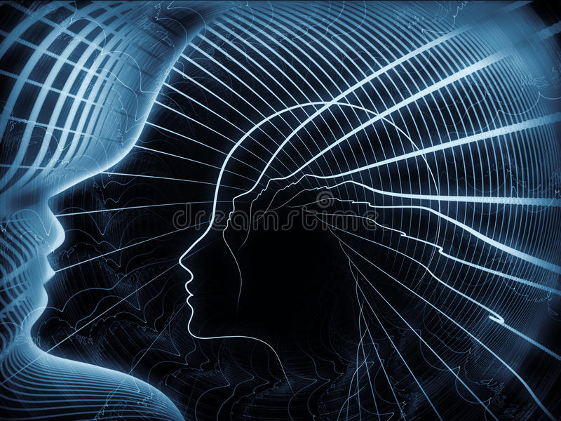 Die wachsende Seelen-Geometrie lizenzfreies stockbild