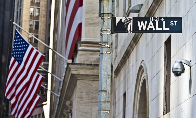 Die Wall Street lizenzfreie stockbilder