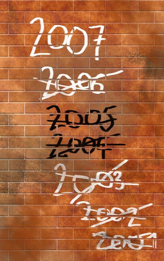 Die Wand lizenzfreie abbildung