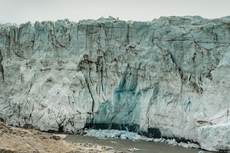 Die Wand des Eises, Russell-Gletscherfront, Grönland lizenzfreie stockfotografie