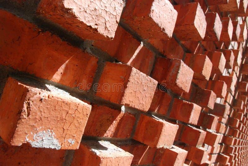 Die Wand des Ziegelsteines stockbilder
