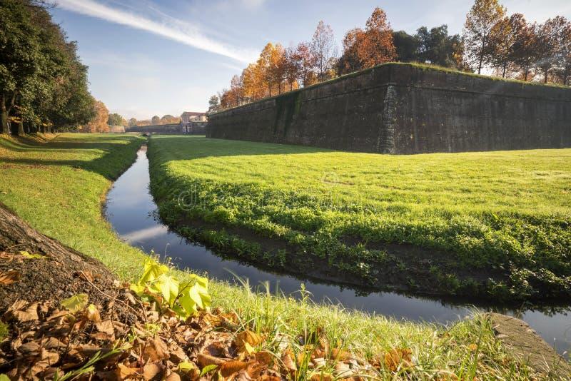 Die Wand von Lucca stockfoto