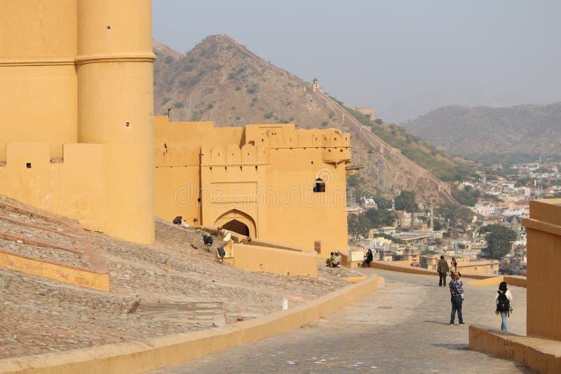 Die Wanderung zu Jaigarh-Fort stockbild