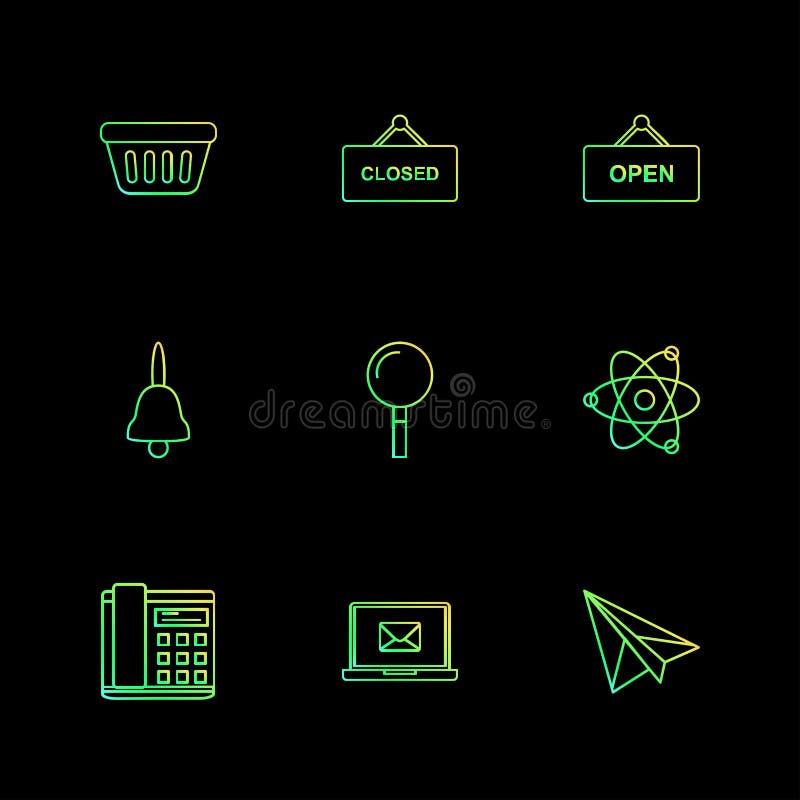 die Wanne, geschlossen, offen, Glocke, die Suche, Kern, telefonieren, hüllen ein lizenzfreie abbildung