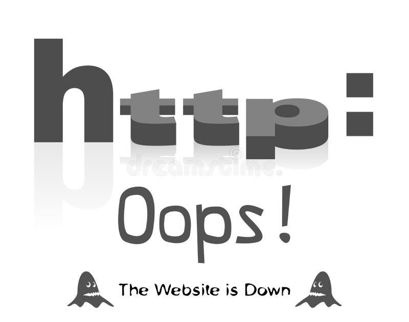 Die Website ist unten lizenzfreie abbildung