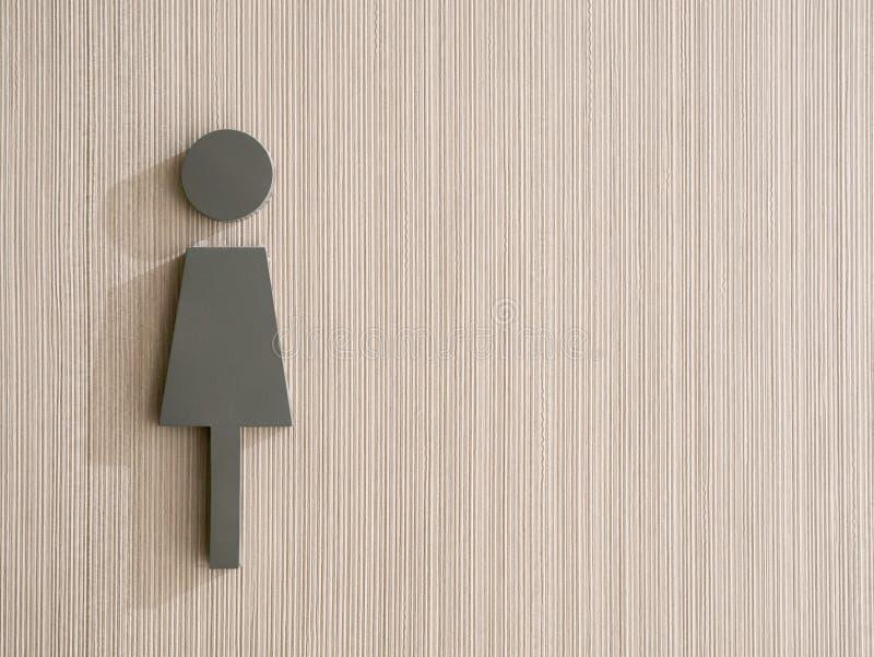 Die weibliche Ikone auf vertikalem Musterhintergrund lizenzfreies stockfoto