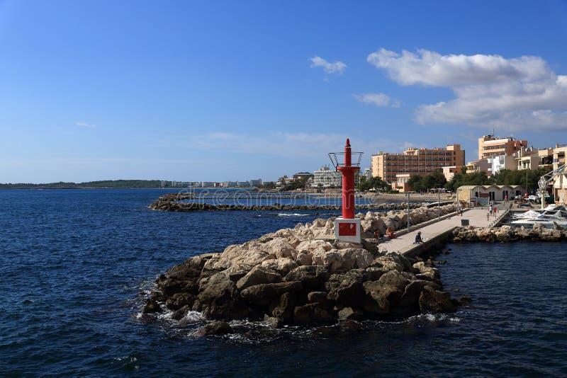 Die Weise von Sa-Koma nach das Cala Ratjada, Majorca, Spanien stockfotografie