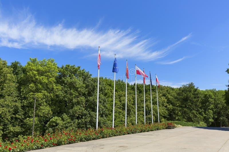 Die Weise zu Westerplatte-Monument zum Gedenken an die polnischen Verteidiger, Gdansk, Westerplatte, Polen lizenzfreie stockbilder