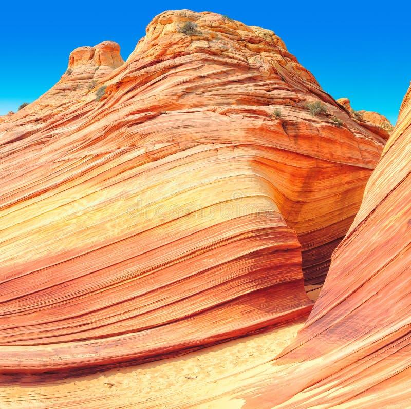 Die Welle in Arizona, erstaunliche Sandsteinfelsformation stockfoto