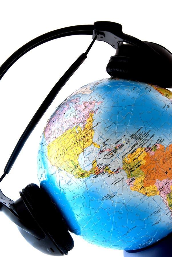 Die Welt ist listenig lizenzfreies stockbild