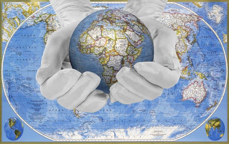 Die Welt in seinen Händen stockfotos
