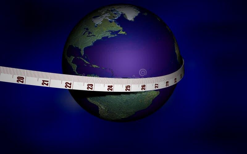Die Welt unter Verwendung messen ich stock abbildung