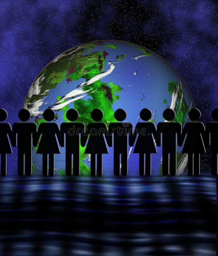 Die Welt vereinigt lizenzfreie abbildung