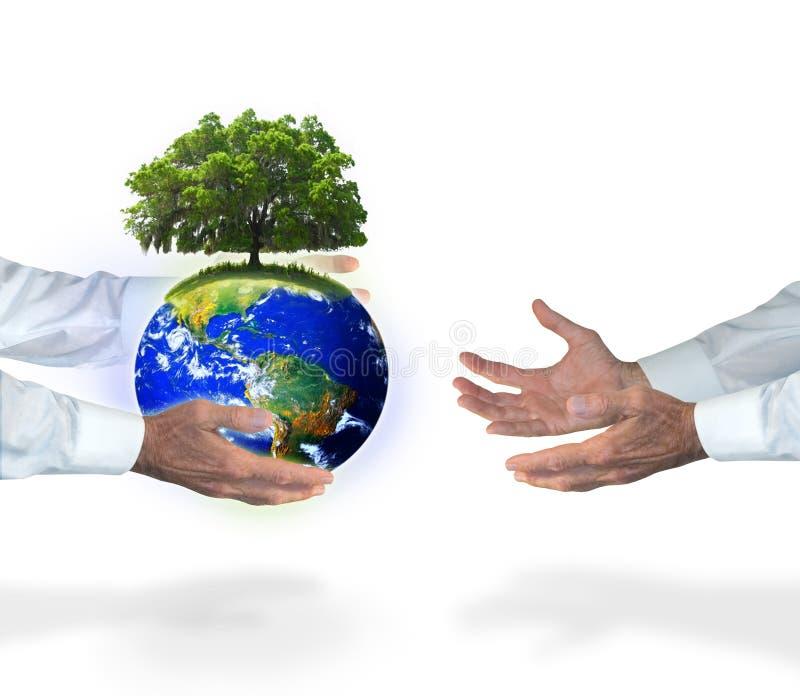 Die Welt zusammen ändern lizenzfreies stockbild