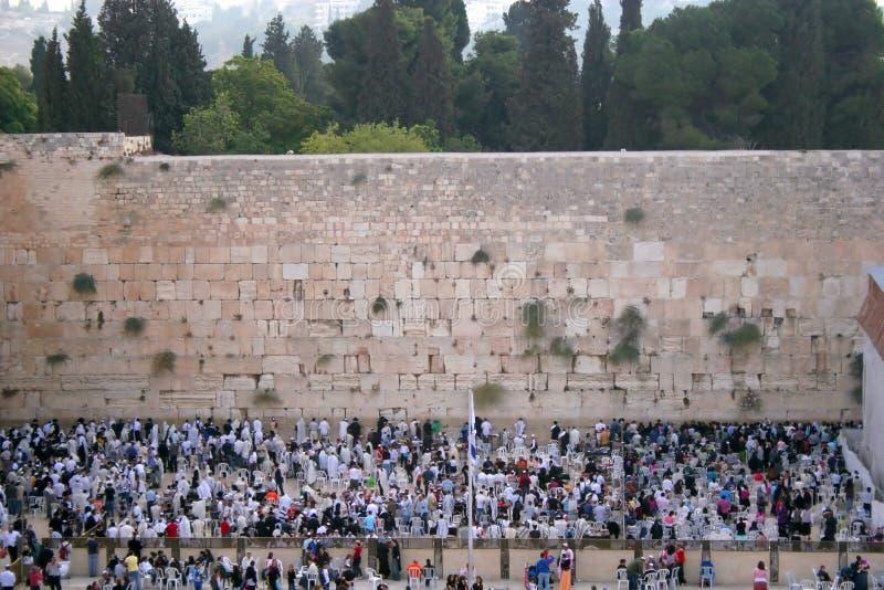 Die westliche Wand stockbilder
