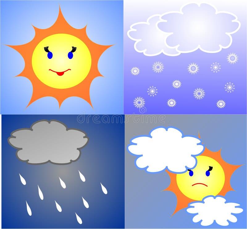 Die Wettervorhersage lizenzfreie abbildung
