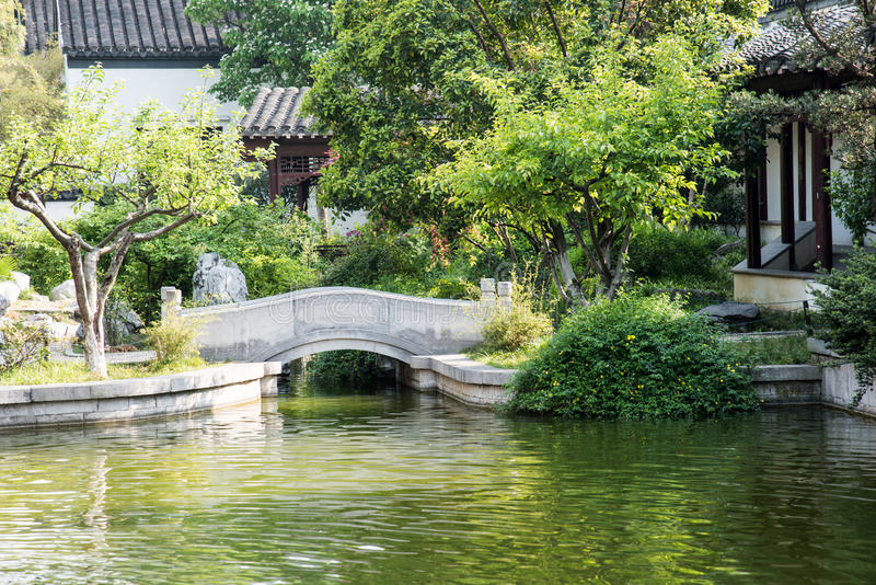 Die wieder hergestellte Gartenlandschaft lizenzfreie stockbilder