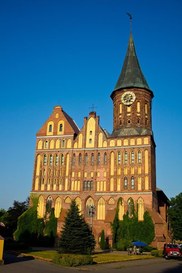 Die wieder hergestellte Kathedrale ein Symbol der Stadt von Kaliningrad und von Hauptort von stockbild