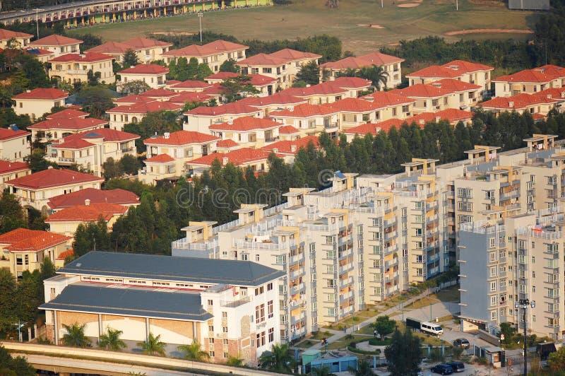 Die Wohngebäude stockfoto