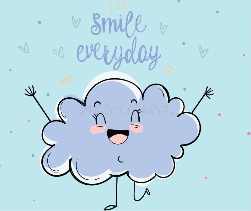 Die Wolke glücklich lizenzfreies stockfoto