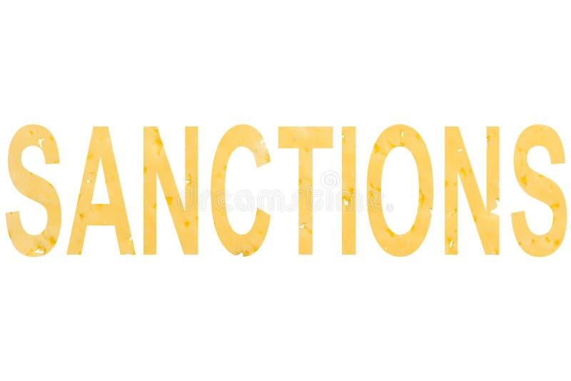 Die Wort Sanktionen lizenzfreie abbildung