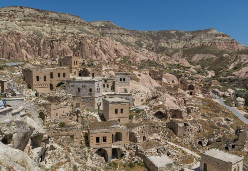 Die wunderbare Landschaft von Cappadocia, die T?rkei stockfotografie