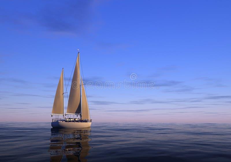 Die Yacht stock abbildung