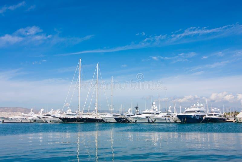 Die Yachten stockfoto