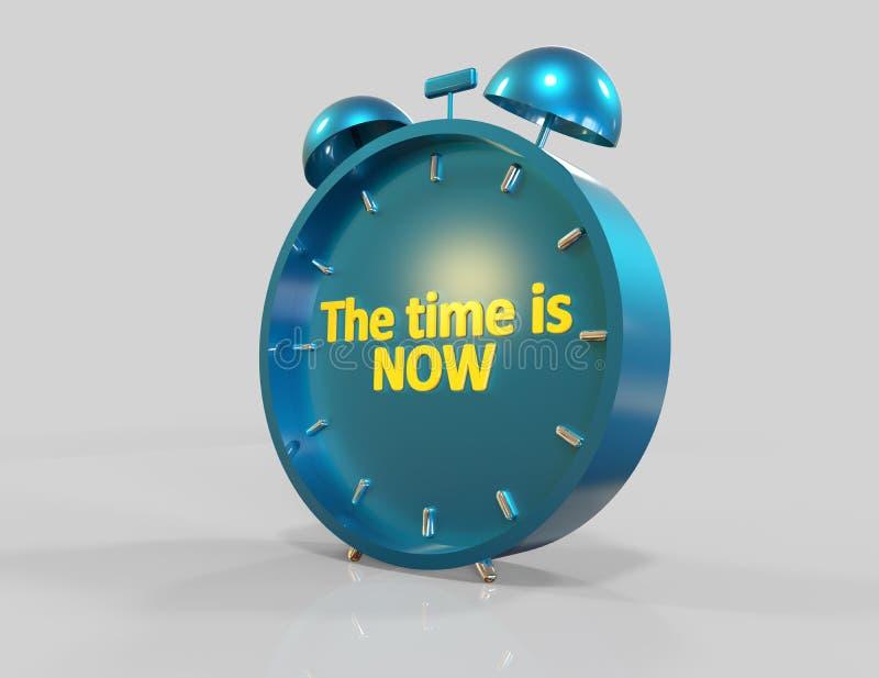 Die Zeit ist jetzt vektor abbildung
