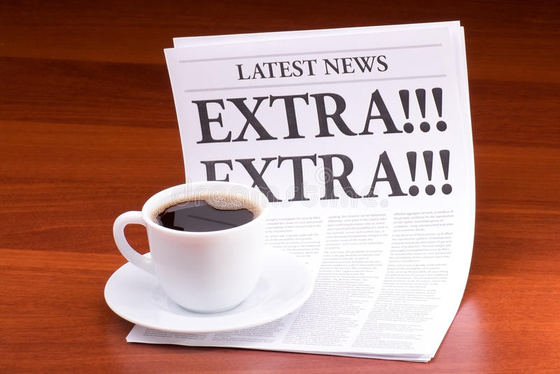 Die Zeitung EXTRA! EXTRA! stockfotografie