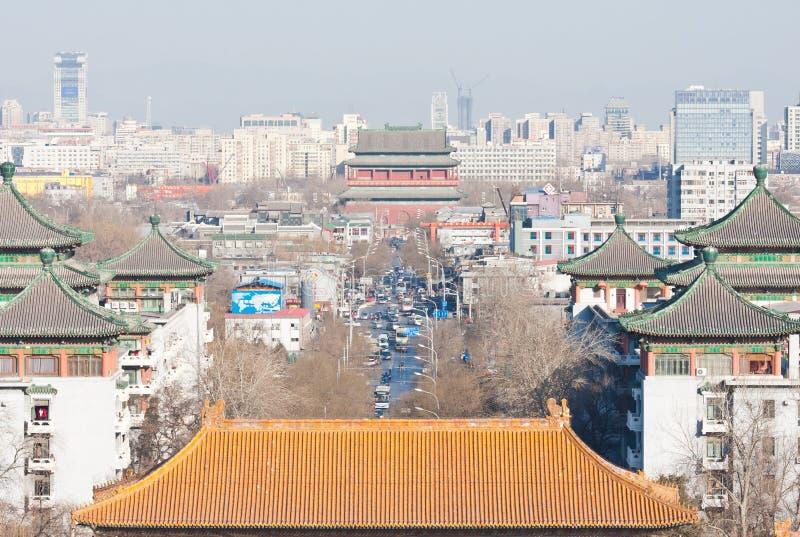 Die zentrale Mittellinie in Peking lizenzfreie stockbilder