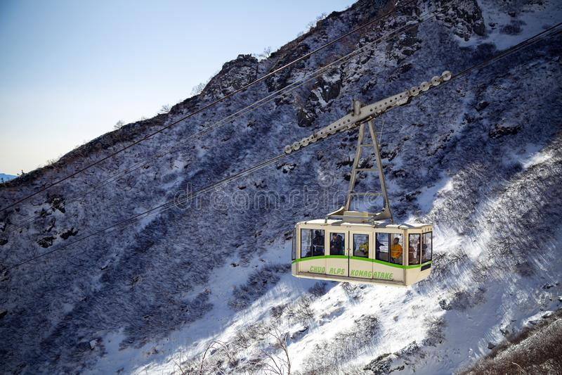 Die zentralen Alpen Komagatake-Ropeway in Japan lizenzfreie stockfotos