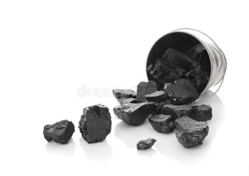 Die zinked Wanne mit Kohle lizenzfreie stockfotos