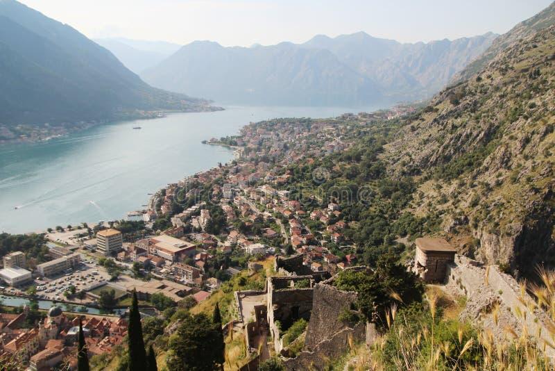 Die Zitadelle in Kotor, Montenegro stockfotos