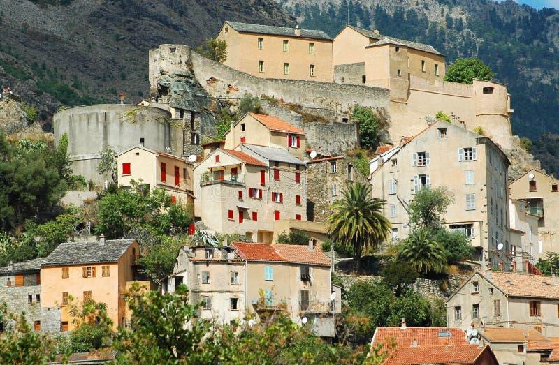 Die Zitadelle von Corte, Korsika lizenzfreie stockbilder