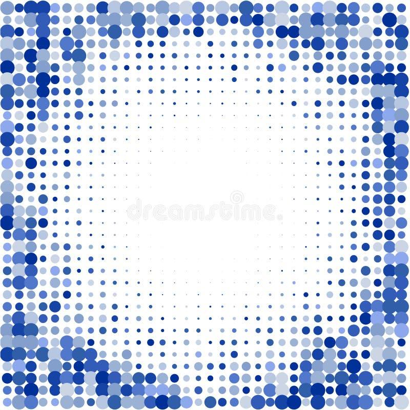 Die Zusammensetzung von den blauen Punkten auf weißem Hintergrund lizenzfreie abbildung