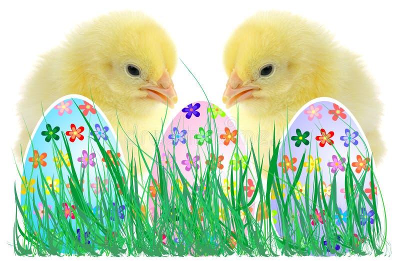 Die Zusammensetzung von Ostern lizenzfreie stockbilder