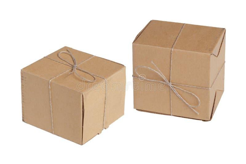 Die zwei Verpackungskästen lizenzfreies stockbild