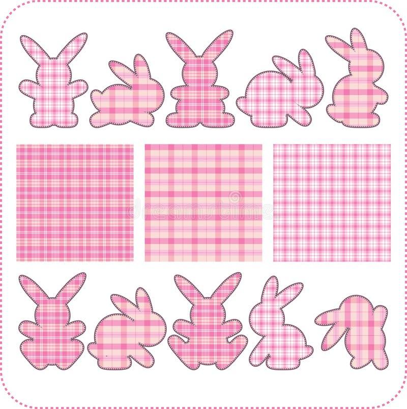 Dieci conigli dentellare. Bei elementi per l'album illustrazione vettoriale